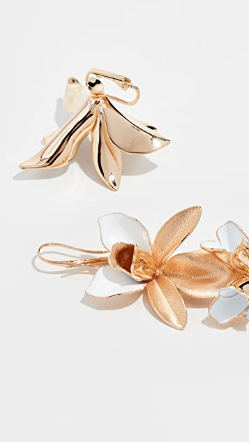 Zimmermann Orchid Statement Drop Earrings