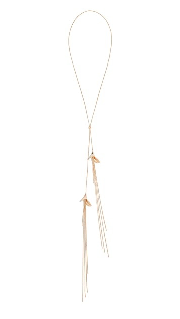 Zimmermann Orchid Lariat Necklace