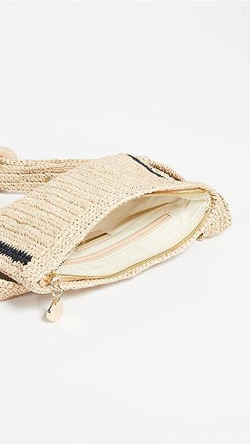 Zimmermann Поясная сумка из рафии в полоску