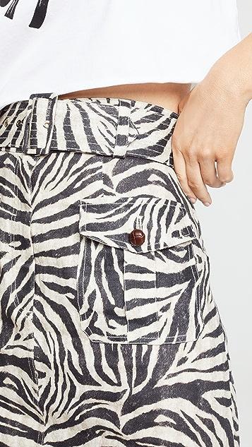Zimmermann Мини-юбка Safari с корсажем