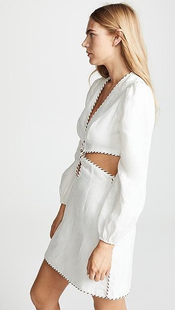 Zimmermann Corsage Braid Mini Dress