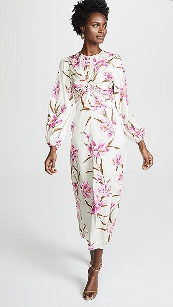 Zimmermann Corsage Knot Midi Dress