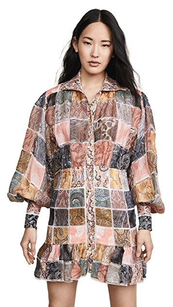 Zimmermann Ninety-Six Patch Mini Dress
