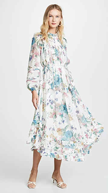 Zimmermann Ninety-Six Linear Midi Dress
