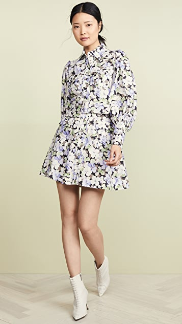 Zimmermann Ninety-Six Shirt Short Dress