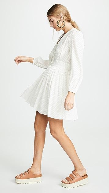 Zimmermann 打褶泡泡纱短连衣裙
