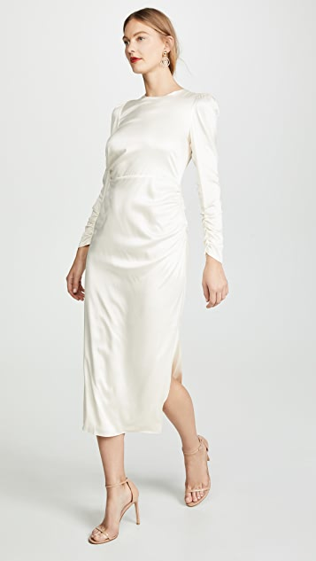 Zimmermann Ruched Drape Dress