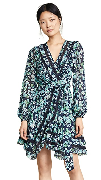 Zimmermann Moncur Wrap Mini Dress