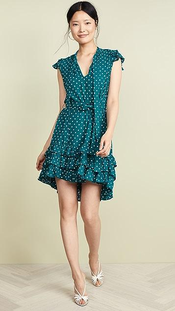 Zimmermann Развевающееся короткое платье со сборками
