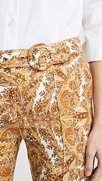 Zimmermann Zippy Golden Flare Pants