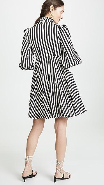 Zimmermann Короткое платье с воротником-хомутом на молнии