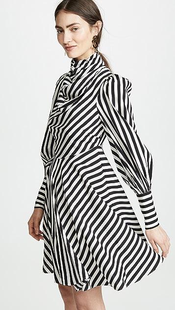 Zimmermann 拉链垂褶短连衣裙