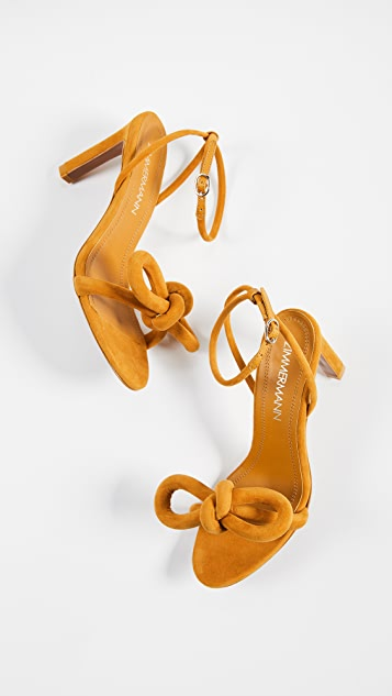 Zimmermann Sculptural Bow Heel Sandals