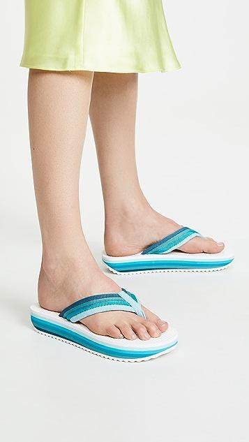 Zimmermann Rainbow Flip Flops