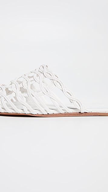 Zimmermann Wave Lattice Slide Sandals