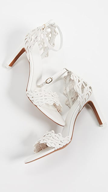 Zimmermann Wave Lattice Heel Sandals