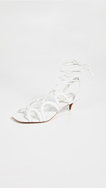 Zimmermann Scallop Kitten Heel Sandals