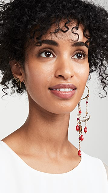 Zimmermann Swallow Drop Hoop Earrings