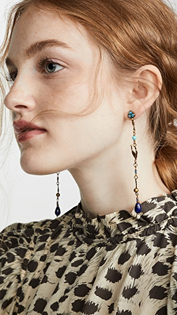 Zimmermann Delicate Swallow Drop Hoop Earrings