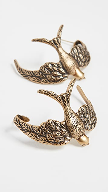 Zimmermann Swallow Hoop Earrings