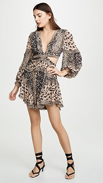 Zimmermann Allia Cutout Short Dress
