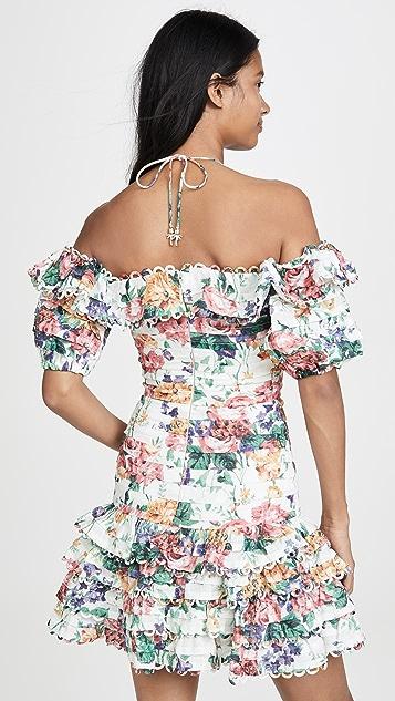 Zimmermann Короткое платье с защипами Allia
