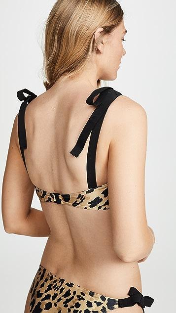 Zimmermann Veneto 绑带抹胸比基尼套装