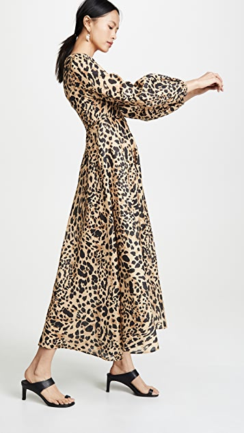 Zimmermann Длинное платье Veneto с глубоким вырезом