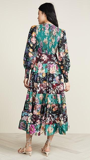 Zimmermann Длинное многоуровневое платье Allia