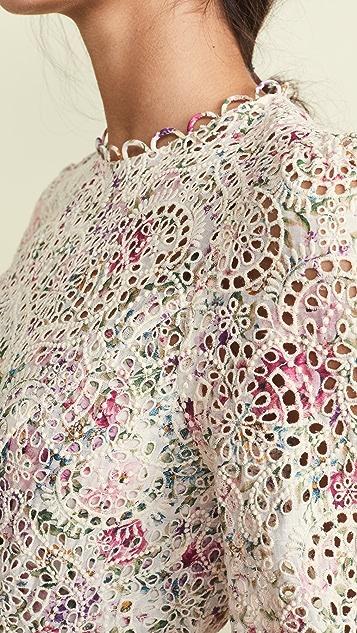 Zimmermann Платье Honour с высоким вырезом