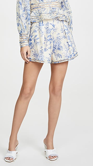 Zimmermann Verity High Waist Shorts