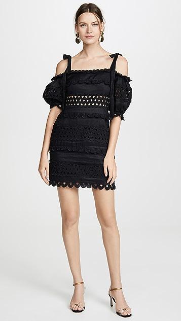 Zimmermann Платье с открытыми плечами в горошек Verity
