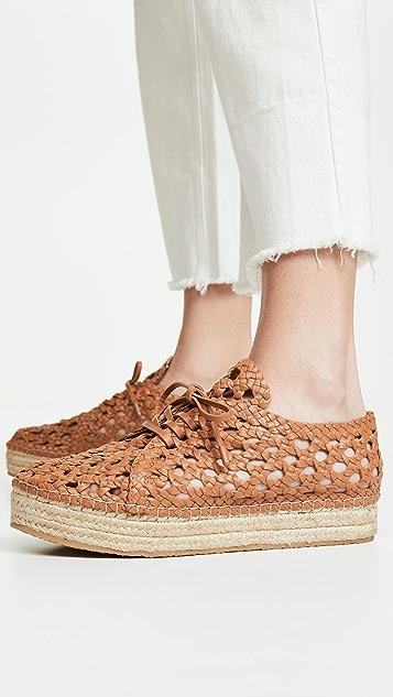 Zimmermann Плетеные сандалии на плоской платформе в стиле эспадрилий
