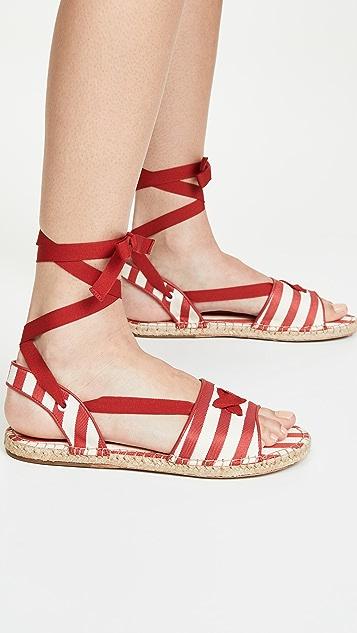 Zimmermann Tie Espadrille Sandals