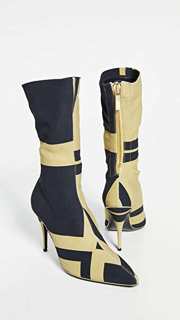 Zimmermann Mid Length Zip Lycra Boots