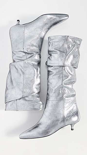 Zimmermann Metallic Kitten Heel Boots