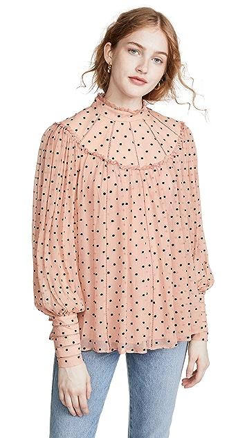 Zimmermann Воздушная блуза Espionage с кокеткой