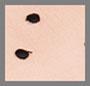 грязный персиковый/черный горошек