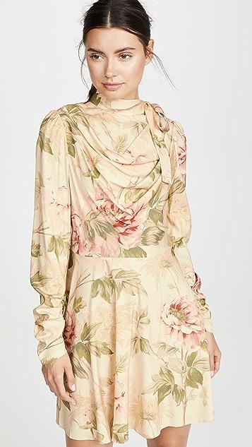 Zimmermann 真丝垂褶迷你连衣裙