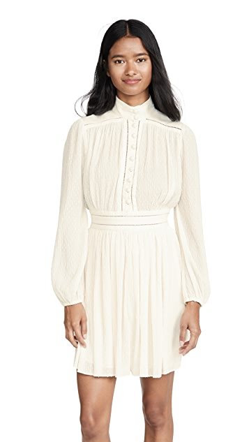 Zimmermann Espionage Plisse Mini Dress