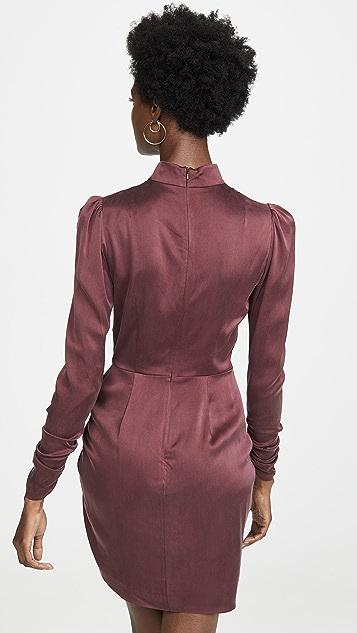 Zimmermann Espionage Silk Drape Dress