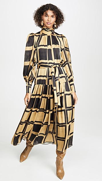 Zimmermann Платье Resistance с закатанным вырезом