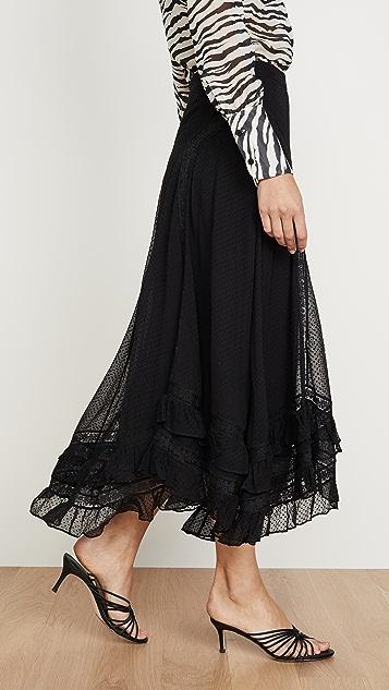 Zimmermann Sabotage 荷叶边蕾丝半身裙