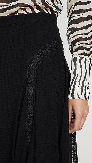 Zimmermann Кружевная юбка Sabotage с оборками