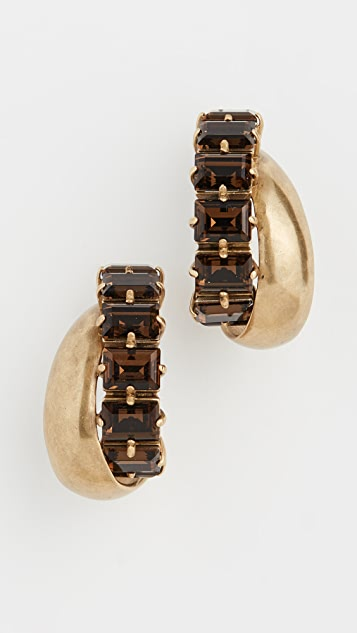 Zimmermann Crystal Hoop Earrings
