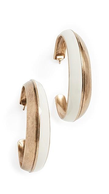 Zimmermann Серьги-кольца со вставками