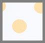 象牙白/芒果黄圆点