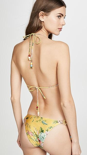 Zimmermann Zinnia Crochet Tri Bikini Set