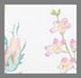слоновая кость с цветочным принтом