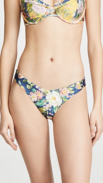 Zimmermann Zinnia Floral Flexi Bikini Bottoms